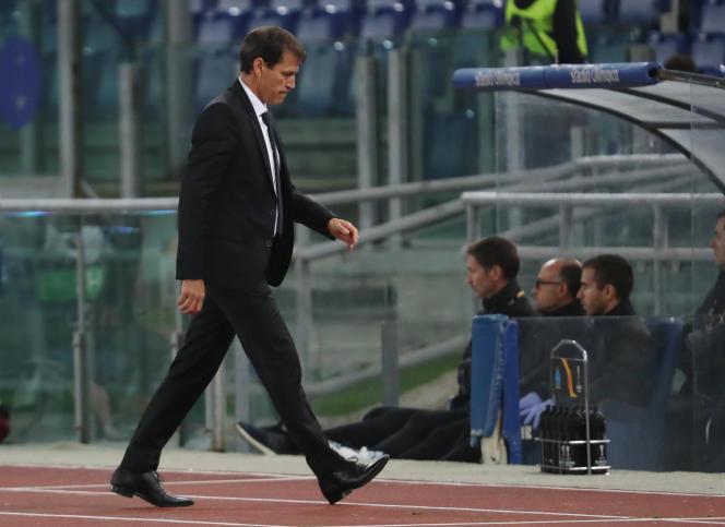 Rudi Garcia, le 8 novembre, à Rome, lors de la défaite (2-1) face à la Lazio.