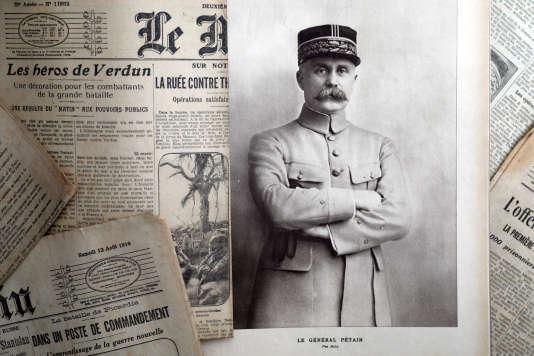 Un portrait du maréchal Philippe Pétain publié par le journal «L'Illustration», le 4août 1917.