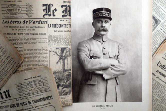 Un portrait du général Philippe Pétain publié par le journal «L'Illustration», le 4août 1917.
