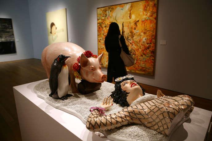 L'œuvre de Jeff Koons « Fait d'hiver», vendue 3 millions d'euros en 2007, jugée plagiat de la publicité de la marque Naf-Naf.