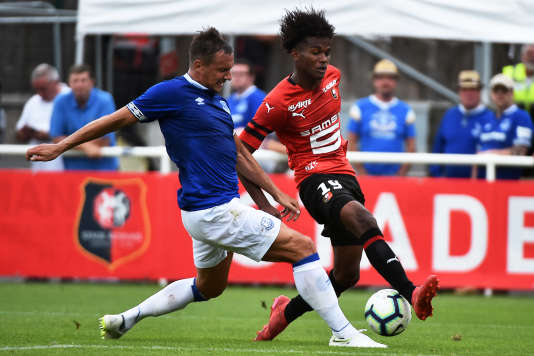 Yann Gboho (right), currently a player at Stade Rennais, was classified as