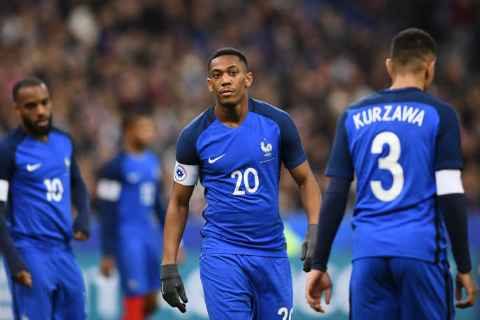 Anthony Martial, lors de France-Pays de Galles, le 10 novembre 2017.