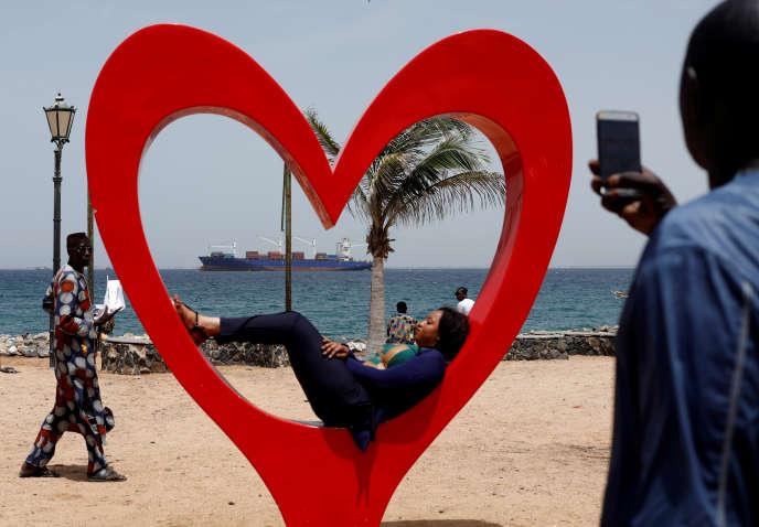 Sur l'île de Gorée, à Dakar, en septembre 2018.