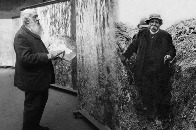 Montage photo de Claude Monet (à gauche) et Georges Clemenceau.