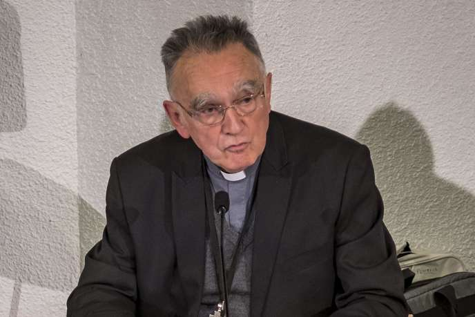 Mgr Georges Pontier lors de la Conférence des évêques de France, à Lourdes (Hautes-Pyrénées), le 3 novembre.