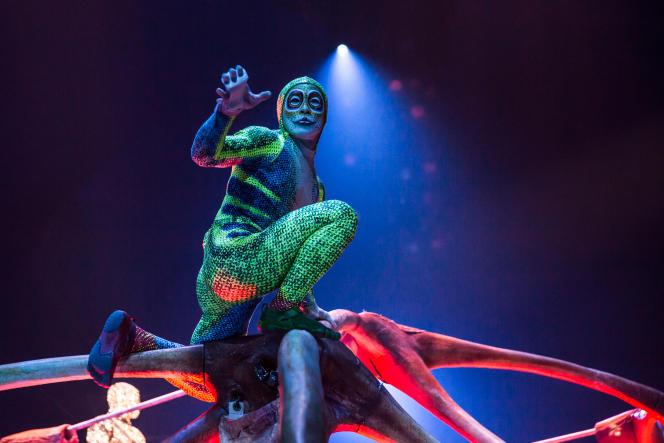 L'une des étranges créatures qui peuplent le nouveau spectacle du Cirque du Soleil,«Totem».