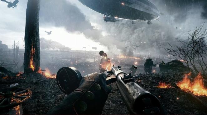 Difficile de faire plus hollywoodien que« Battlefield 1», avec son monumentalisme, son action effrenée, ses cieux dramatiques.