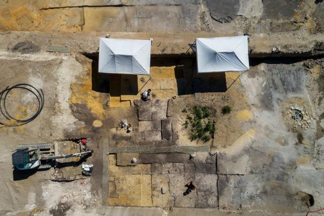 Cette fouille, menée par l'Inrap à Angoulême(Charente), concerne une surface inédite de 4 000 mètres carrés.