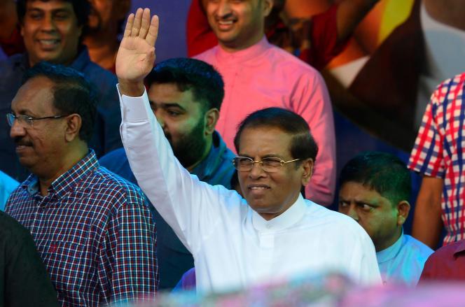 Le présidentMaithripala Sirisena, le 9novembre à Colombo.