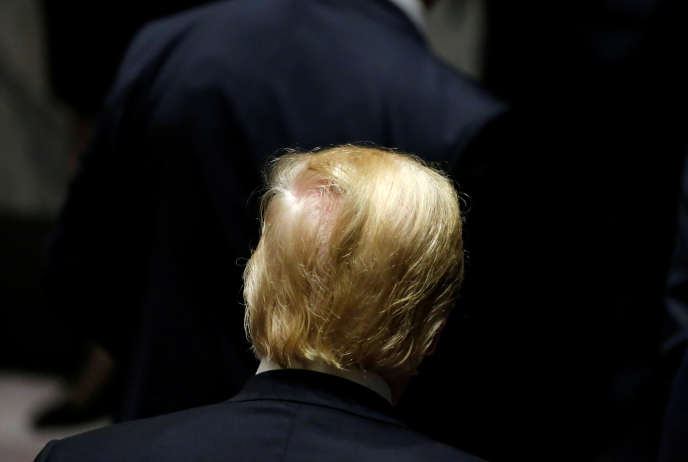 Le président américain, Donald Trump, à l'assemblée générale des Nations unies, à New York, le 26septembre 2018.
