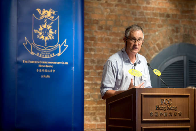 Victor Mallet, journaliste du « Financial Times », à Hongkong, le 14 août.