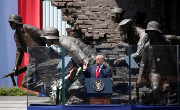 Donald Trump à Varsovie, le 6 juillet 2017.
