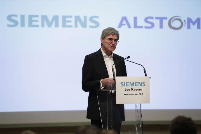 Joe Kaeser, PDG de Siemens, en septembre 2017, à Paris.