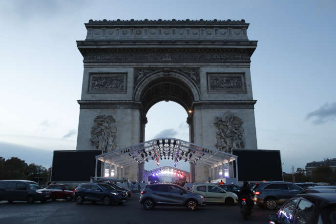L'Arc de triomphe, à Paris, le 9 novembre.