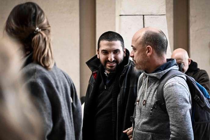 Ibrahim Maalouf à son arrivée au tribunal de Créteil, vendredi 9 novembre.