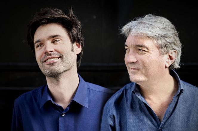 Paul Lay (à gauche) et Eric Le Lann, à Paris, en avril 2018.