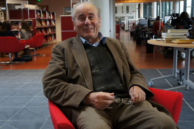 Bartolomé Bennassar au Centre de ressources en langues de l'université Toulouse - Jean-Jaurès, le 15octobre 2013.