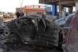 A Mossoul, le 9 novembre, sur le site de l'attaque à la voiture piégée.