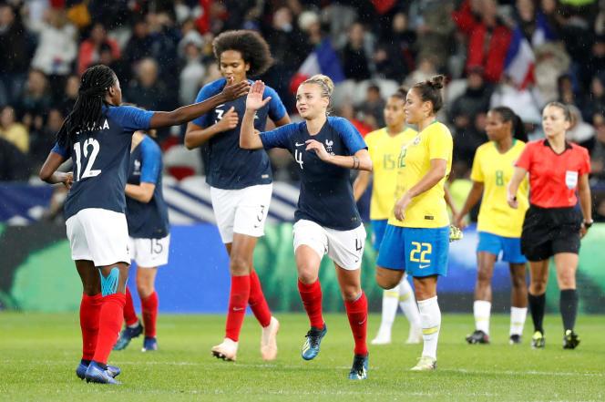 Les Bleues face au Brésil, le 10 novembre à Nice.