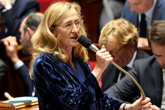 La ministre de la justice, Nicole Belloubet, le 24 octobre à l'Assemblée nationale, à Paris.