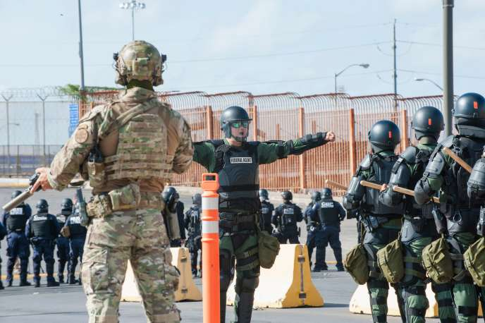 Des milliers de soldats américains ont été déployés le long de la frontière mexicaine, à Hidalgo au Texas, le 5 novembre.