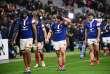 Le XV de France après sa défaite in extremis contre l'Afrique du Sud, à Saint-Denis, samedi 10 novembre.