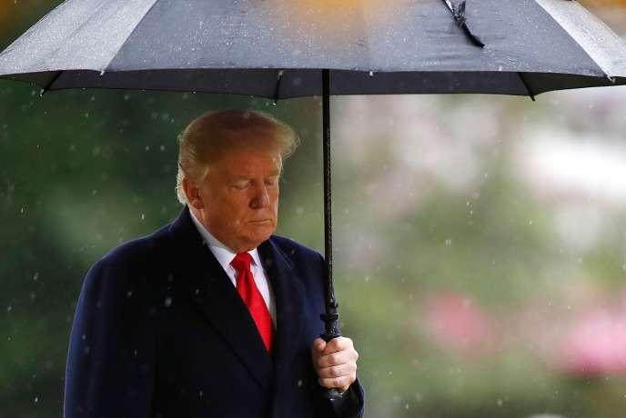 Le président Donald Trump au cimetière militaire américain de Suresnes, le 11novembre 2018.