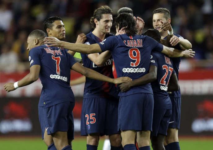 Des joueurs du PSG, dimanche 11 novembre.