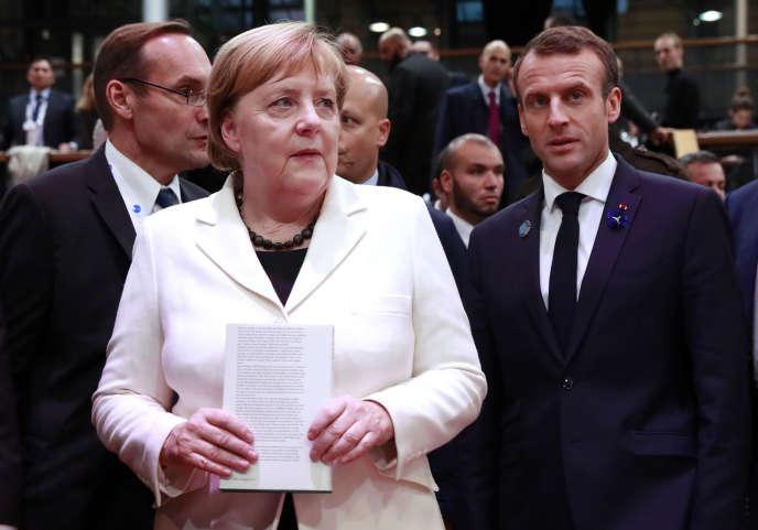 Emmanuel Macron et Angela Merkel.