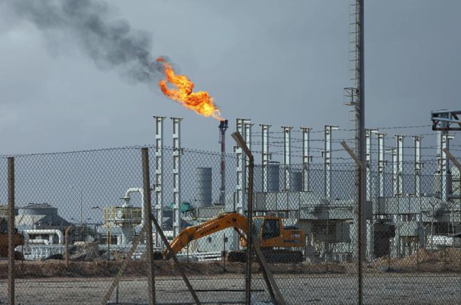 Des installations pétrolières à Mellitah, à l'ouest de Tripoli. L'Italie cherche à protéger ses intérêts pétroliers en Libye.