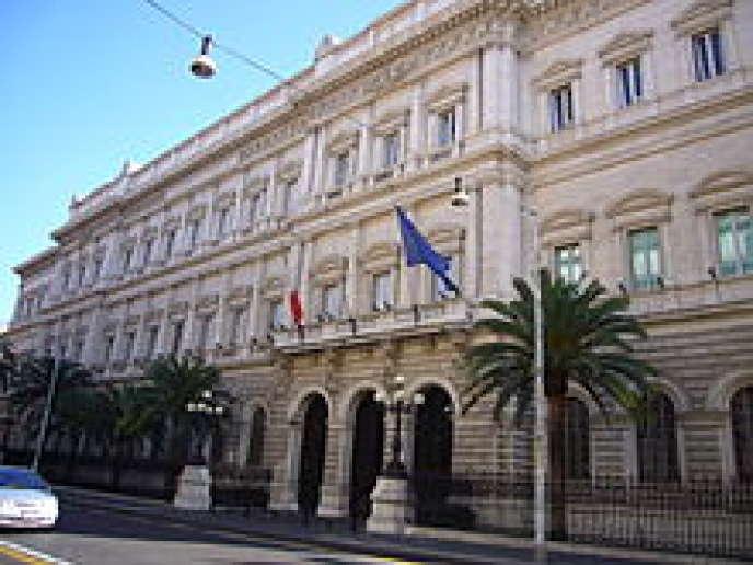 A Rome, la Banque centrale d'Italie.