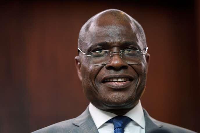 Martin Fayulu, candidat unique de l'opposition à l'élection présidentielle en RDC, à Genève, le 11novembre 2018.