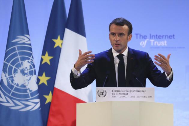 Emmanuel Macron a lancé le 12 novembre « l'appel de Paris pour la confiance et la sécurité dans le cyberespace».