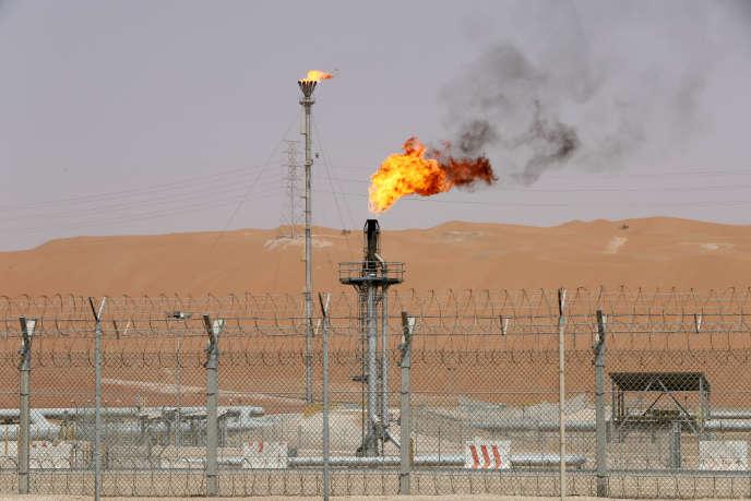 Puits de pétrole de Shaybah de la compagnie Saudi Aramco, en Arabie saoudite, en mai.