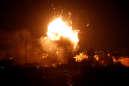 Explosion après un raid israëlien à Gaza, le 12 novembre 2018.