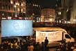 Sur de nombreux écrans installés à Vienne, sont projetés des courts-métrages, réalisés par un collectif de cinéastes.
