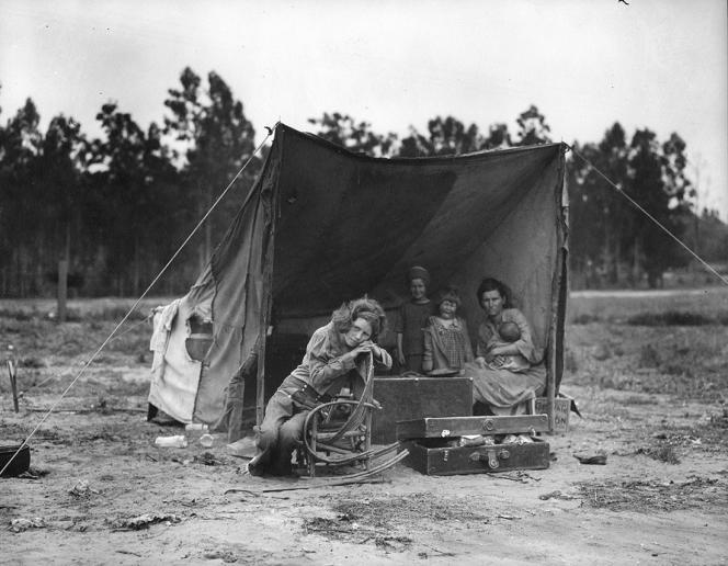 «Migrant mother», Californie, 1936.