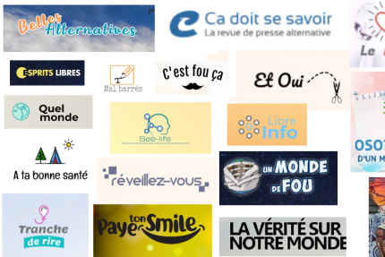 Captures d'écran des logos des principaux sites du réseau.