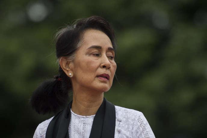 La dirigeante birmane Aung San Suu Kyi, à Rangoon, le 19 juillet.