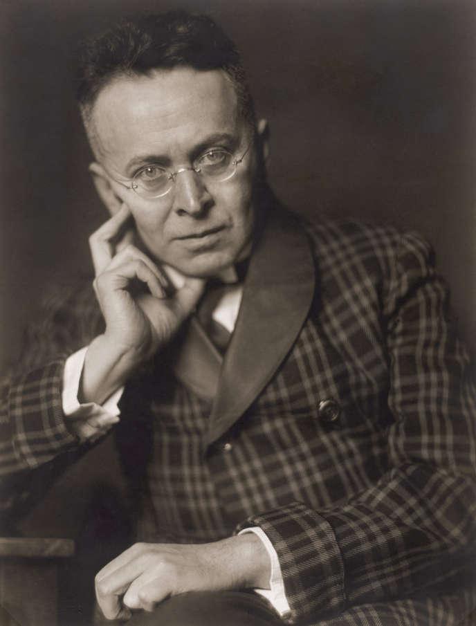 Karl Kraus (1874-1936), en1928, à Vienne.