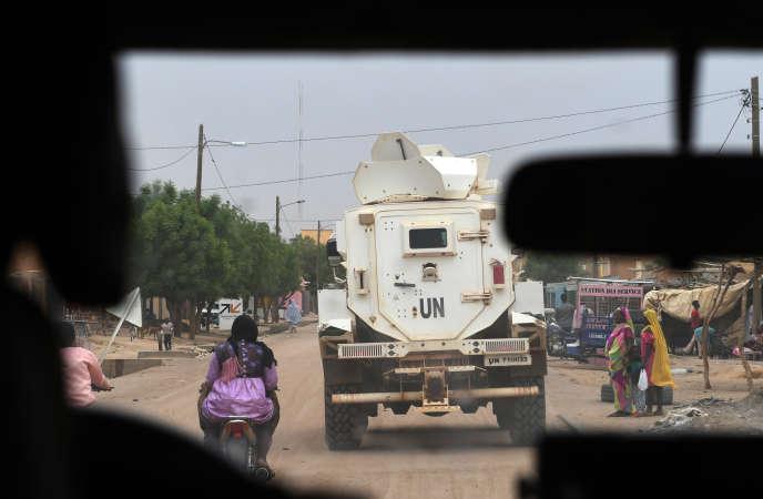 Une patrouille de la mission des Nations unies au Mali (Minusma), à Gao, dans le nord-est du pays, en août 2018.