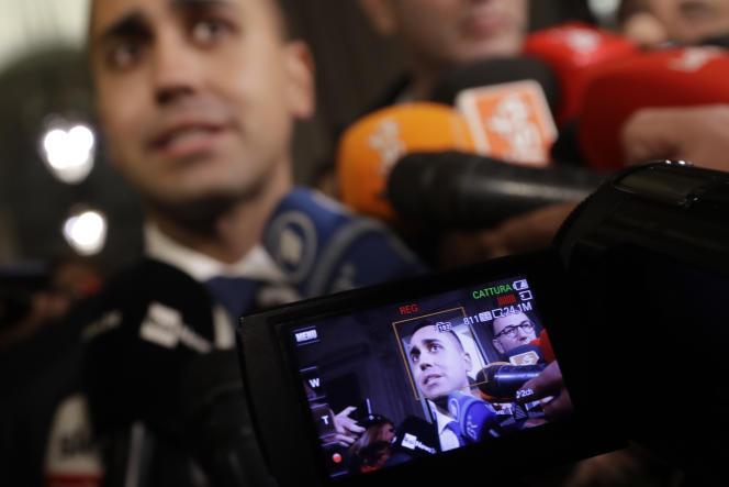 Luigi Di Maio, vice-premier ministre et chef de file du Mouvement 5 étoiles (M5S, antisystème), le 13 novembre à Rome.