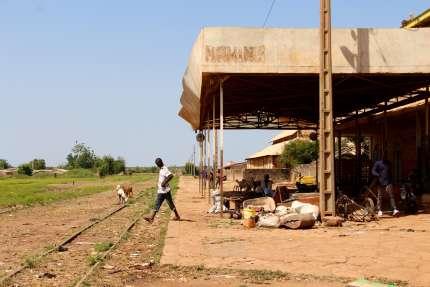 La gare de Mahina, dans l'ouest du Mali, le 30octobre 2018.