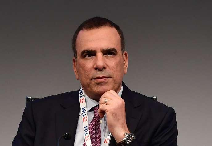 Le directeur général de Telecom Italia, Amos Genish, le 4 mai, à Rozzano, en Italie.