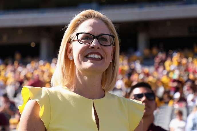 La candidate démocrate au Sénat américain dans l'Arizona, Kyrsten Sinema.