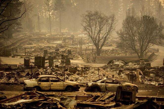 Scènes de désolation à Paradise, en Californie, après le passage du Camp Fire, le 12 novembre.