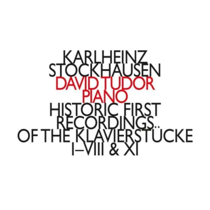 Pochette de l'album « Historic First Recordings of the Klavierstücke », de Karlheinz Stockhausen par le pianiste David Tudor.