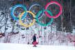 Un skieur sur la piste de Pyeongchang, lors des derniers JO d'hiver.