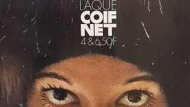 Publicité pour la laque « Coif Net » dans les années 1970.