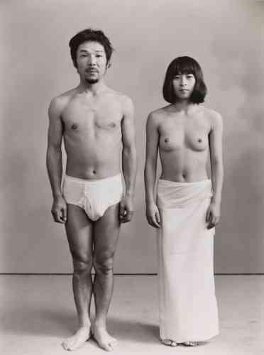 Masahisa Fukase et une actrice (1972).